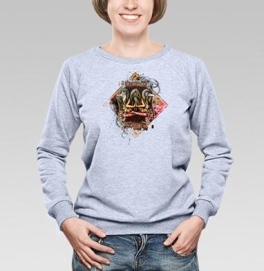 Шаман с тотемными животными - Купить детские свитшоты с волками в Москве, цена детских свитшотов с волками  с прикольными принтами - магазин дизайнерской одежды MaryJane