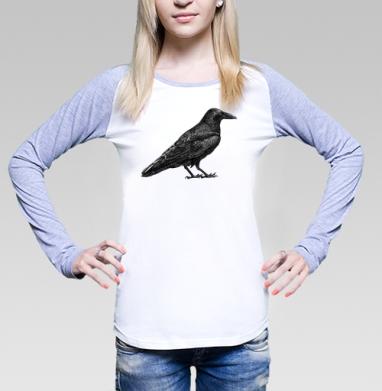 Чёрный ворон - Футболки с длинным рукавом женские