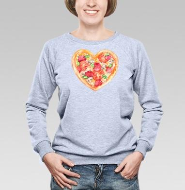 Пицца - это любовь - Купить детские свитшоты с любовью в Москве, цена детских свитшотов с любовью  с прикольными принтами - магазин дизайнерской одежды MaryJane