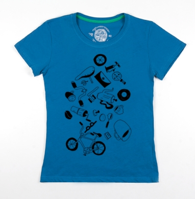 Футболка женская волна 200гр - Кофе велосипедная текстура