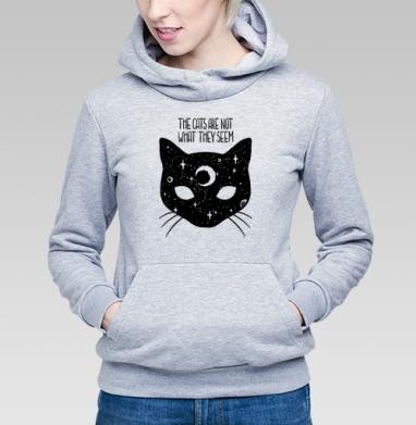 Коты не то, чем кажутся - Купить детские толстовки с кошками в Москве, цена детских толстовок с кошками  с прикольными принтами - магазин дизайнерской одежды MaryJane