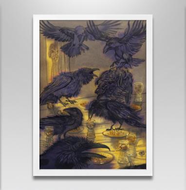 Семь воронов - Постер в белой раме, сказки