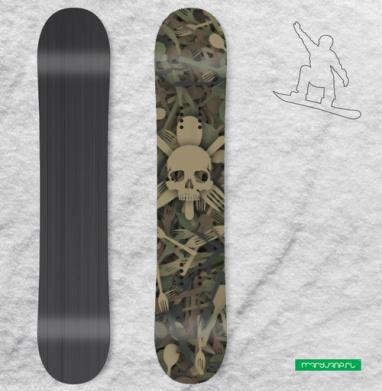 Кулинарный спецназ - Сплошные наклейки сноуборд c черепами