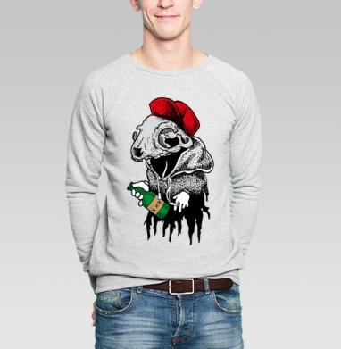 АлкоКот - Купить мужские свитшоты с черепом в Москве, цена мужских  с черепом  с прикольными принтами - магазин дизайнерской одежды MaryJane