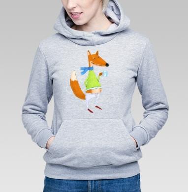Лис и какао - Купить детские толстовки с лисой в Москве, цена детских толстовок с лисой  с прикольными принтами - магазин дизайнерской одежды MaryJane