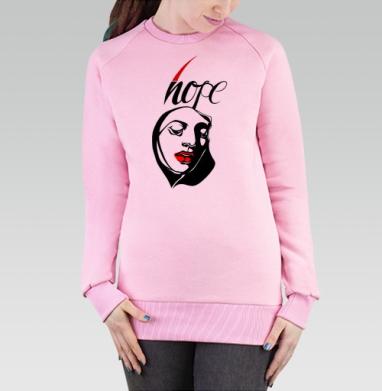 Cвитшот женский розовый  320гр, стандарт - ХОУП