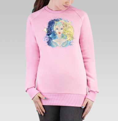 Cвитшот женский, толстовка без капюшона розовый - Веста - богиня весны