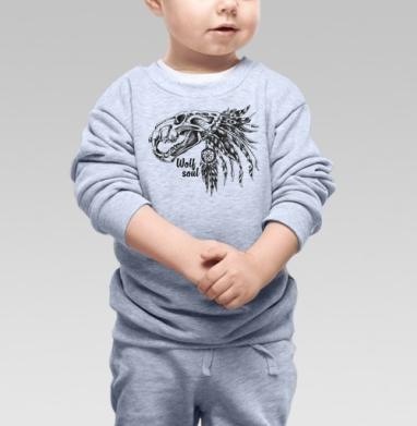 ДУХ ВОЛКА - Купить детские свитшоты с волками в Москве, цена детских свитшотов с волками  с прикольными принтами - магазин дизайнерской одежды MaryJane