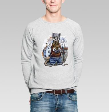 Хорь турист - Купить мужские свитшоты с акварелью в Москве, цена мужских свитшотов с акварелью  с прикольными принтами - магазин дизайнерской одежды MaryJane