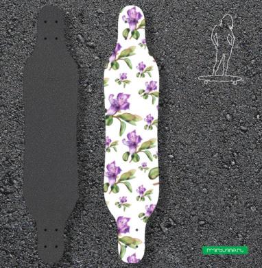 Багульник, ботаническая иллюстрация - Наклейки на лонгборд