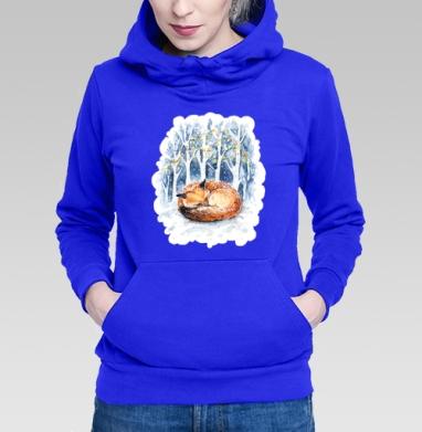 Зимняя лисичка - Толстовки с лисой