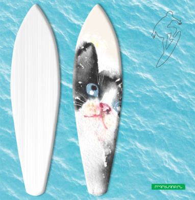 Котенок Бельканто запечатка - Наклейки на серф