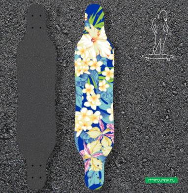 Гавайские цветы - Наклейки на лонгборд