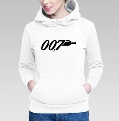 Толстовка Женская белая - Агент 007