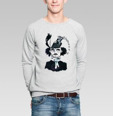 Эдгар Алан По - Купить мужские свитшоты с акварелью в Москве, цена мужских свитшотов с акварелью  с прикольными принтами - магазин дизайнерской одежды MaryJane