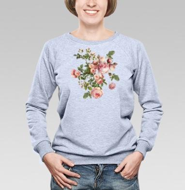 Розовые розы на черном фоне - Купить детские свитшоты паттерн в Москве, цена детских свитшотов с паттерном  с прикольными принтами - магазин дизайнерской одежды MaryJane