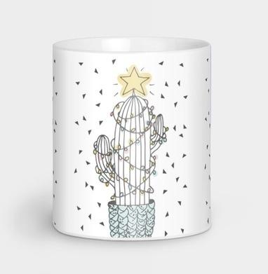 Новогодний кактус - Кружки с логотипом