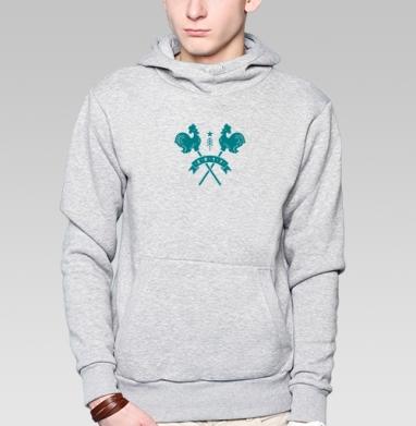 Толстовка мужская, накладной карман серый меланж, серый меланж - Каталог продукции интернет-магазина футболок №1 Мэриджейн