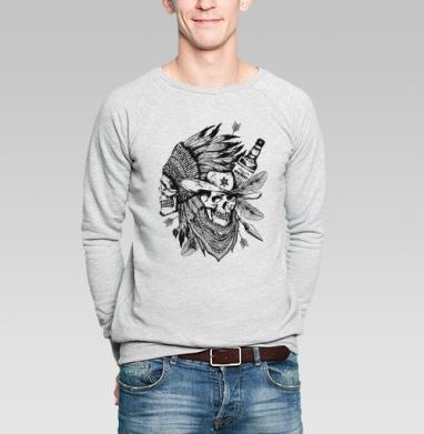 Дикий запад - Купить мужские свитшоты с черепом в Москве, цена мужских  с черепом  с прикольными принтами - магазин дизайнерской одежды MaryJane