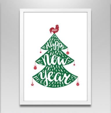 Зеленая елка - Постеры, новый год, Популярные