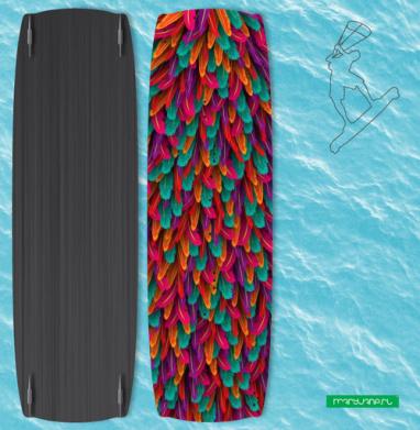 Разноцветные перья - Наклейки на кайтсерфинг/вэйк