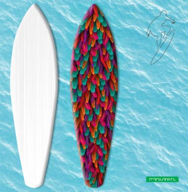 Разноцветные перья - Наклейки на серф