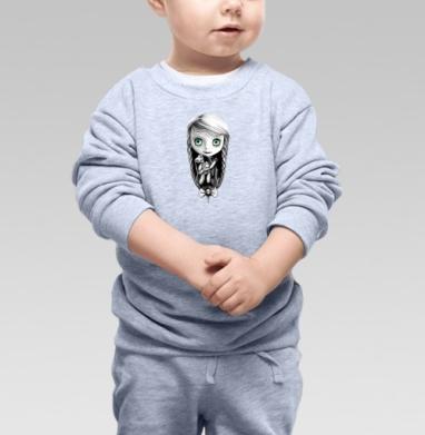 Милая, Cвитшот Детский серый меланж