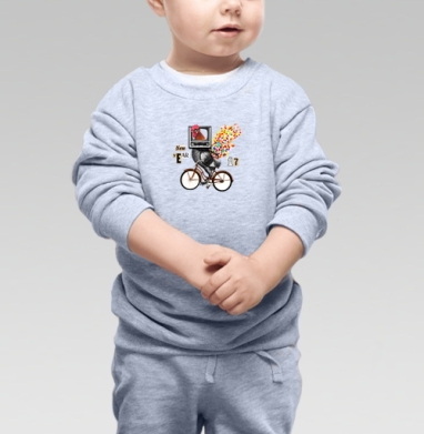 Велоретропетух - Свитшоты детские
