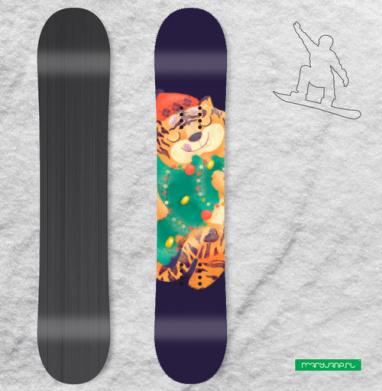 Новогодний Тигра, Наклейка на сноуборд