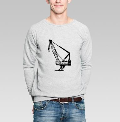 Живой кран - Купить мужские свитшоты с птицами в Москве, цена мужских свитшотов с птицами  с прикольными принтами - магазин дизайнерской одежды MaryJane