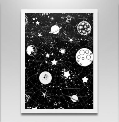 Карта звездного неба - Постеры, космос, Популярные