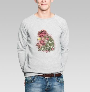 Курочка в цветах - Купить мужские свитшоты Текстуры в Москве, цена мужских свитшотов Текстуры с прикольными принтами - магазин дизайнерской одежды MaryJane