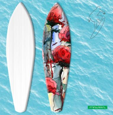 Розы - Наклейки на серф