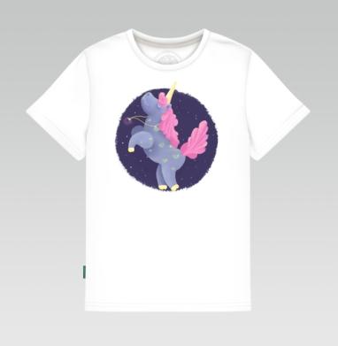 Ежевичный Единорог, Детская футболка белая
