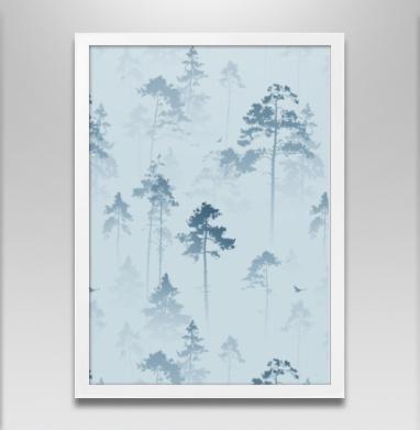 Лес. Туман - Постеры, деревья, Популярные