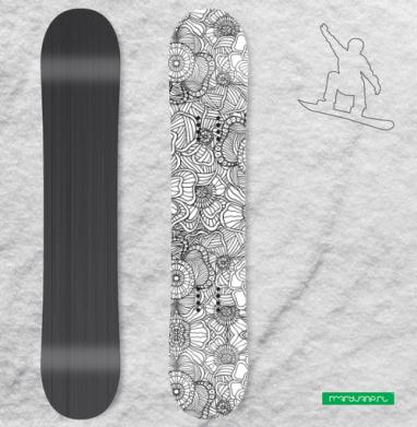 Цветочный патерн - Виниловые наклейки на сноуборд купить с доставкой. Воронеж