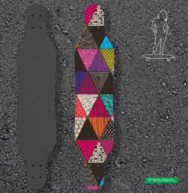 Пестрые треугольники - Наклейки на лонгборд