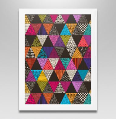 Пестрые треугольники, Постер в белой раме