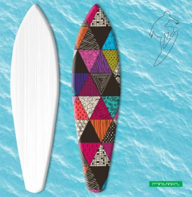 Пестрые треугольники - Наклейки на серф