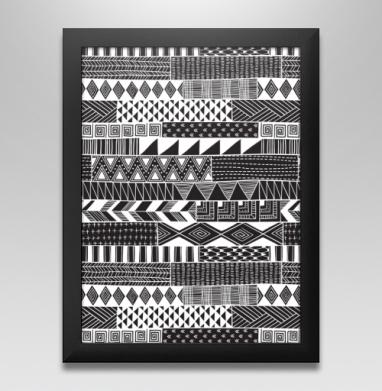 Полосатая графика, Постер в чёрной раме