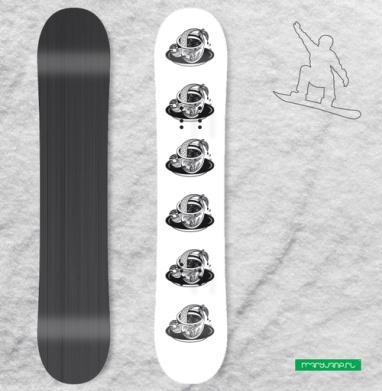 Русалка в чашке, Наклейка на сноуборд