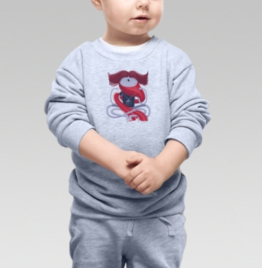 Cвитшот Детский серый меланж - Медитирующий йог