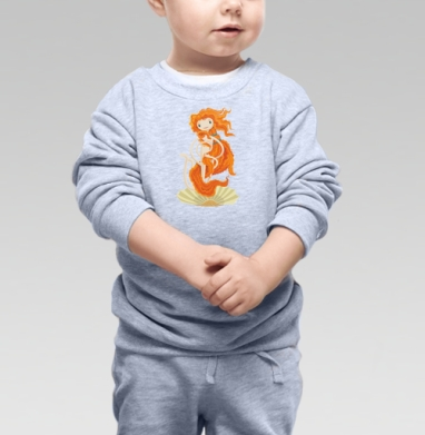 Рождение Венеры, Cвитшот Детский серый меланж