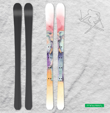 Весенний слон - Наклейки на лыжи