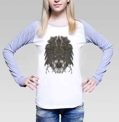 Великий Орёл, Футболка женская с длинным рукавом бело-серая