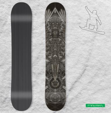 Великий Орёл - Сплошные наклейки сноуборд c черепами