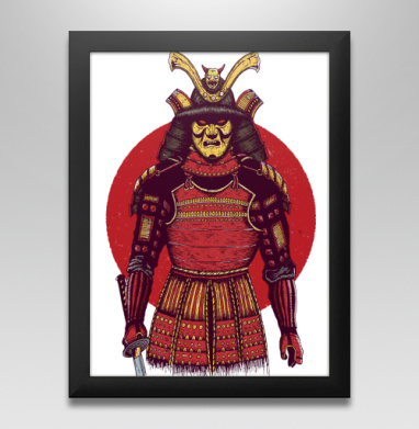 Броня самурая, Постер в чёрной раме