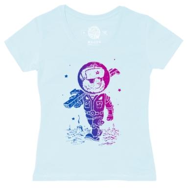 Футболка женская ярко-голубая, ярко-голубой - Каталог женских товаров и принтов.