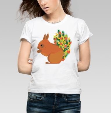 Белочка - Купить детские футболки Новый год в Москве, цена детских футболок новогодних  с прикольными принтами - магазин дизайнерской одежды MaryJane