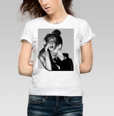 Девушка-загадка - Купить детские футболки модные в Москве, цена детских футболок модных  с прикольными принтами - магазин дизайнерской одежды MaryJane